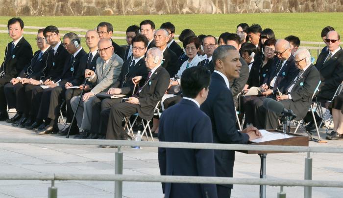 写真・図版 : オバマ広島訪問