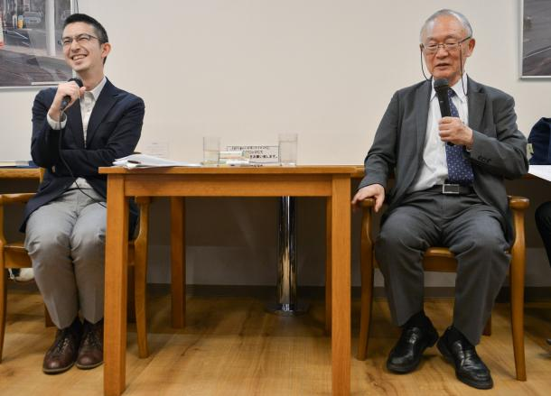 木村草太さん(左)と長尾龍一さん