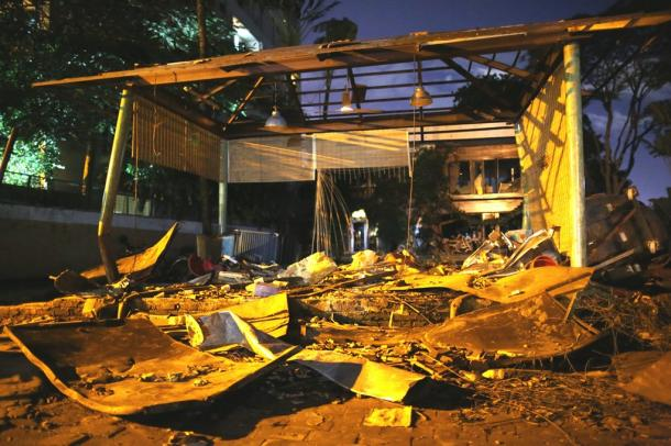 襲撃テロが発生したレストラン