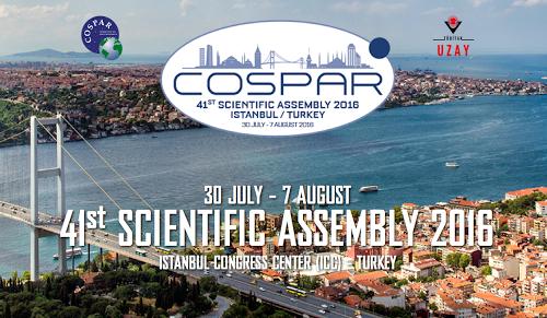 写真・図版 : キャンセルされた第41回COSPAR大会のホームページ