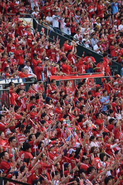 写真・図版 : どこの球場も真っ赤に染まる