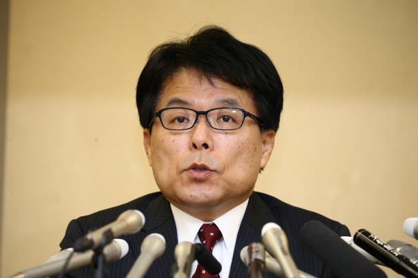 東京都知事選への立候補を表明する増田寛也氏