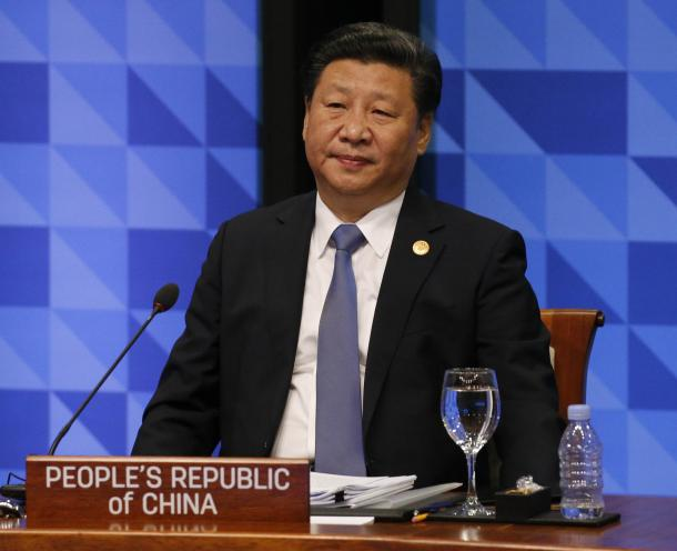 APEC首脳会議に臨む中国の習近平国家主席=2015年11月、フィリピン・マニラ、代表撮影