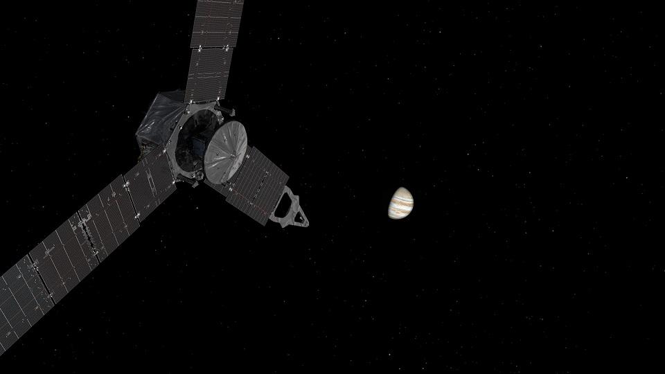 写真・図版 : JUNO探査機の想像図=NASA提供