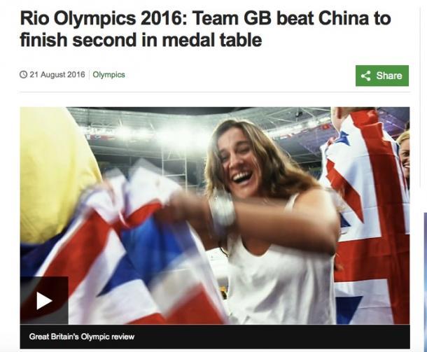 ランキングで中国を抜いたと報じるBBCの報道(BBCのサイトより)