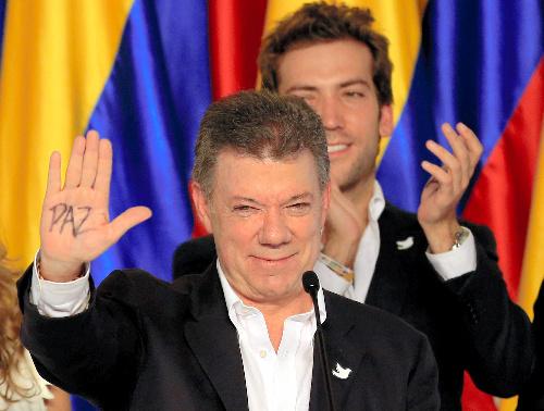 ノーベル平和賞を受賞したコロンビアのサントス大統領=ロイター