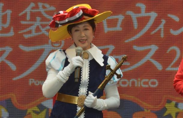 リボンの騎士に扮した小池百合子・東京都知事