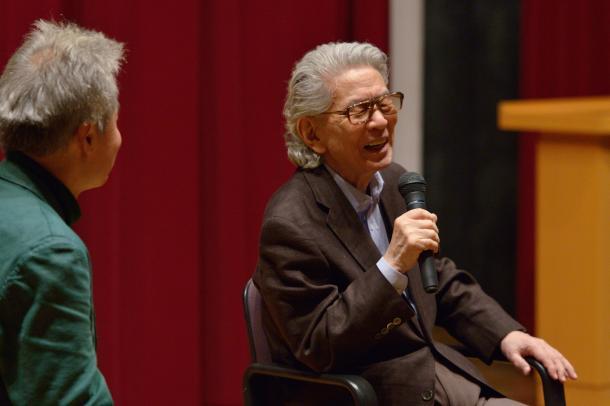 鎌田東二さん(左)と五木寛之さん