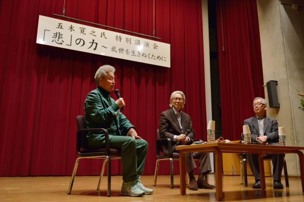 写真・図版 : 鎌田東二さん(左)、五木寛之さん(真ん中)、島薗進さん