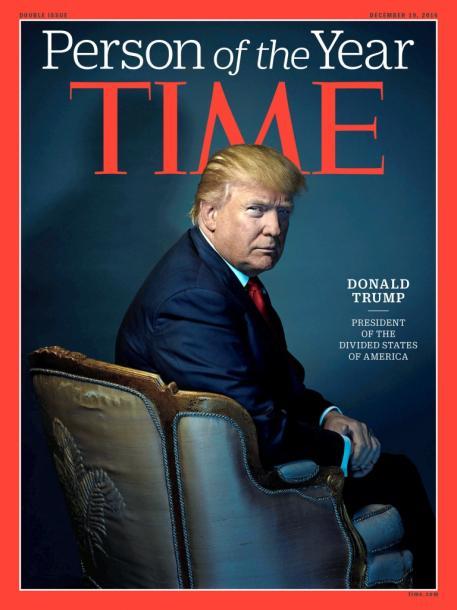 写真・図版 : タイム誌の表紙を飾ったトランプ米次期大統領。タイム誌提供=ロイター