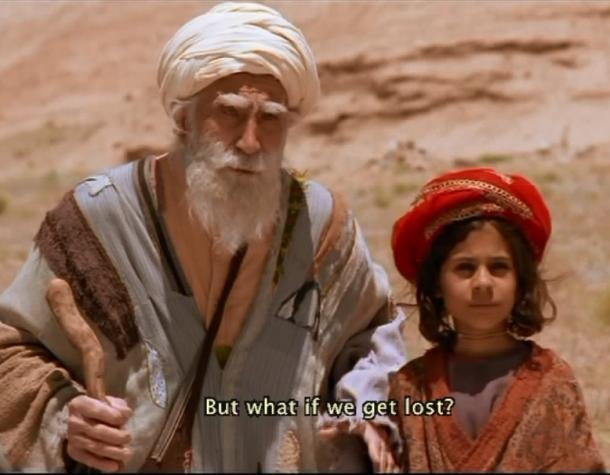 写真・図版 : 『バーバ・アジーズ』(砂漠を旅する目の不自由な老人と孫娘)