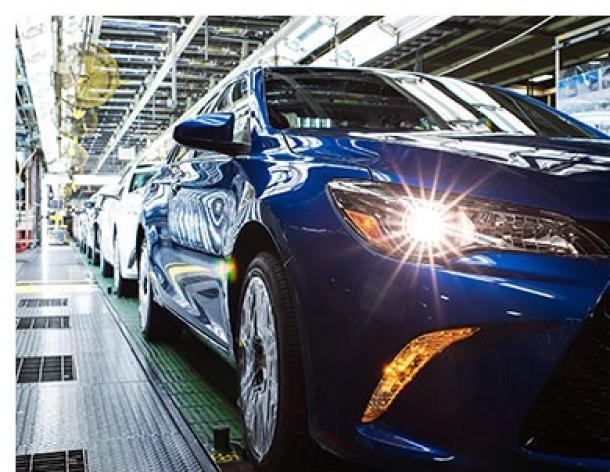 米国トヨタ・ケンタッキー工場の生産ライン(トヨタHPより)