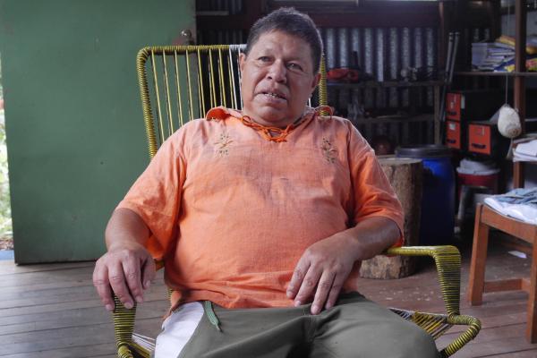 先住民族の権利獲得に力を入れるオルデマール・ペレスさん