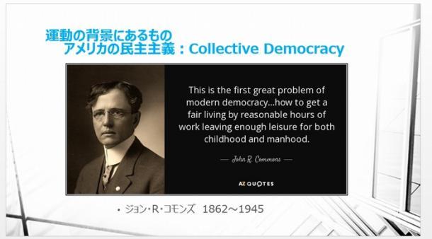 写真・図版 : 運動の背景にあるもの アメリカの民主主義:Collective Democracy ジョン・R・コモンズ 1862~1945