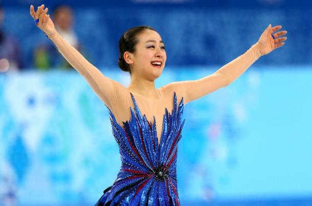 写真・図版 : ソチオリンピックでフリーの演技を終えて=2014年