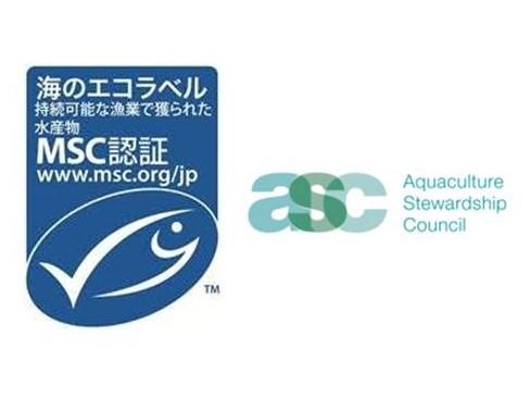 写真・図版 : MSC(左)とASCのラベル