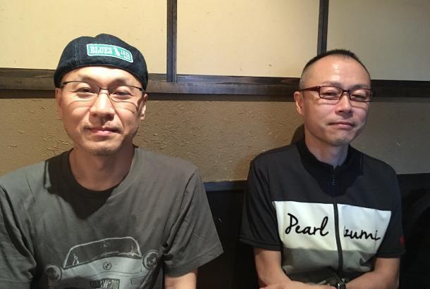 安藤雅司氏(左)と稲村武志氏(右)