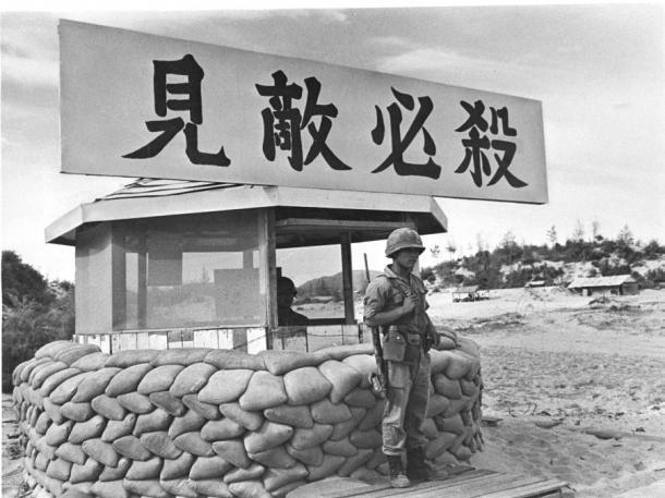 南ベトナムに派遣され、中部沿岸のフーエン省アンビンタンに駐留する韓国軍の前線基地