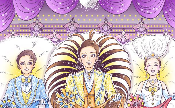 写真・図版 : 『円生と志ん生』公演から、左から、大森博史とラサール石井=谷古宇正彦撮影