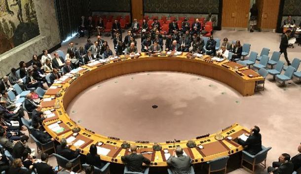北朝鮮の核実験を受けて開催された国連安全保障理事会の緊急会合=9月4日、米ニューヨークの国連本部