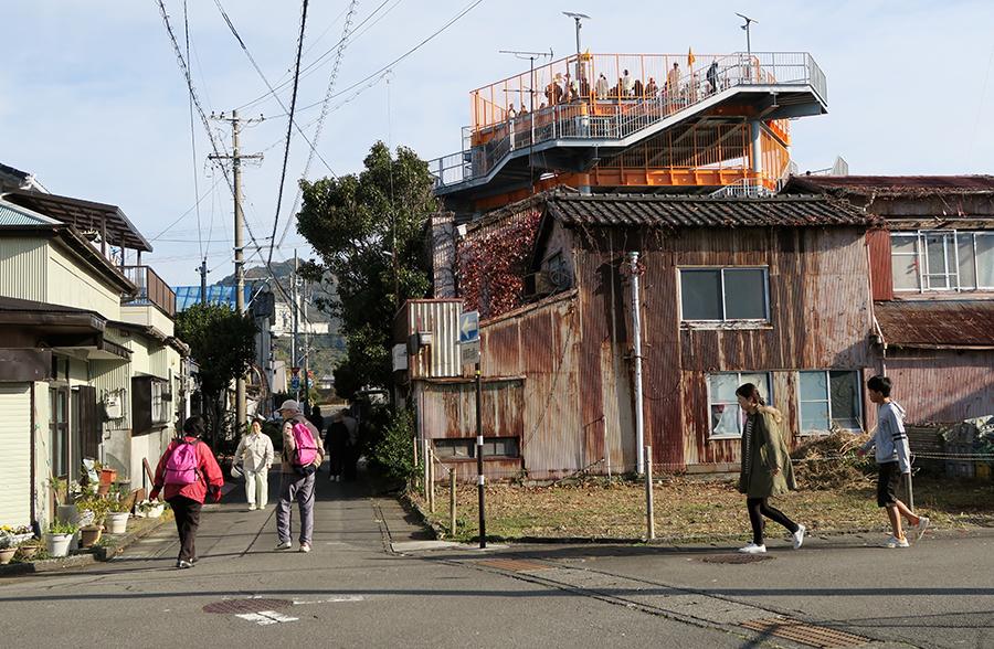 写真・図版 : 静岡県焼津市の避難訓練