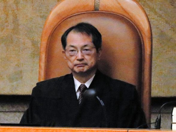 最高裁新長官の大谷直人氏=2017年12月6日、東京都千代田区の最高裁