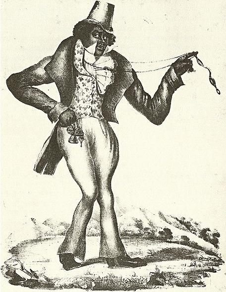 写真・図版 : 【写真 5】 ジップ・クーン   https://commons.wikimedia.org/wiki/File:Zip_Coon,_1834.jpg?uselang=ja