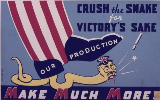 【写真10】  https://commons.wikimedia.org/wiki/File:Crush_the_Snake_for_Victory%27s_Sake._Our_Production_Make_Much_More_-_NARA_-_534489.tif?uselang=ja