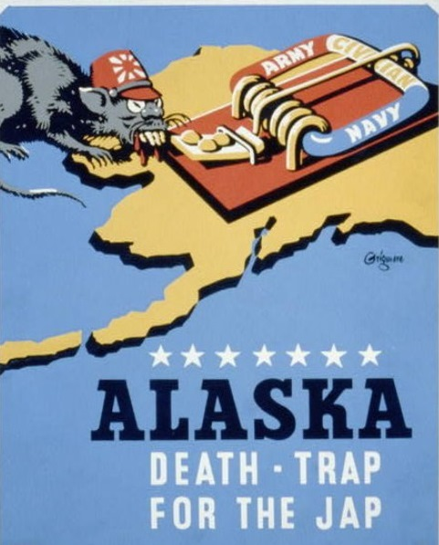 写真・図版 : 【写真7】 https://commons.wikimedia.org/wiki/File:Alaska_-_death-trap_for_the_Jap_LCCN98510121.jpg?uselang=ja