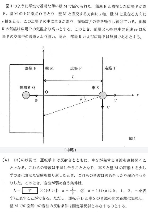 写真・図版 : ミスが見つかった京都大学の物理の問題の一部