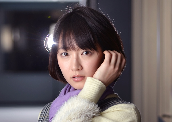 TBSドラマ「きみが心に棲みついた」の主演、吉岡里帆=2017年12月25日、東京都港区
