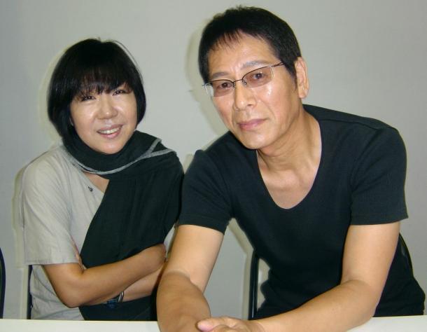 韓国の演出家のキム・アラと俳優・大杉漣/「砂の駅