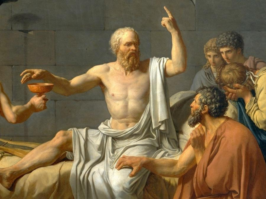 写真・図版 : フランスの画家ジャック=ルイ・ダヴィッドが1787年に描いたソクラテス