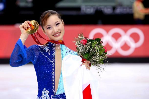 リノ五輪女子フィギュアスケートで金メダルに輝いた荒川静香さん