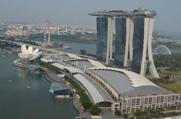 シンガポールにある統合型リゾート(IR)「マリーナ・ベイ・サンズ」