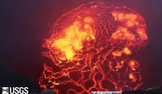 ハワイ島でキラウエア火山が噴火