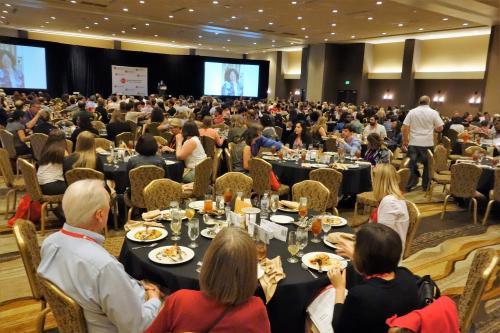 全米から集まったジャーナリスト。参加者数は700人を超えた=写真はいずれも筆者提供