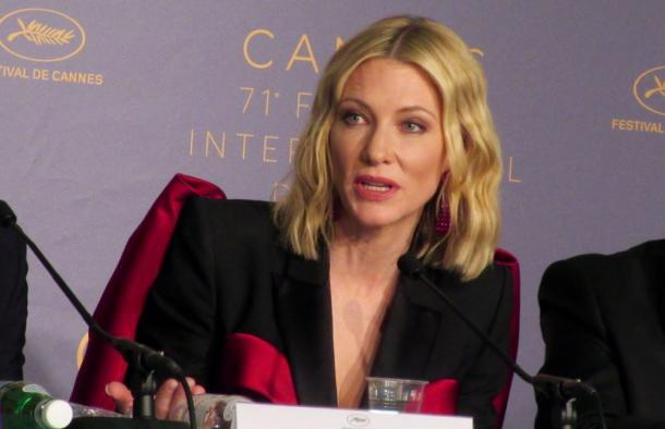 写真・図版 : 審査委員長の女優ケイト・ブランシェット=撮影・筆者