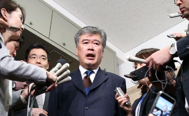 セクハラ問題の辞任した福田淳一財務事務次官=2018年4月18日