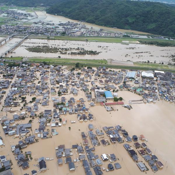 空から見た「西日本大水害」の現...