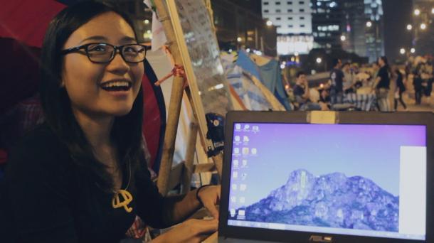 オキュパイ当時香港大学1年生だったレイチェルは、今はNGOで人権活動に関わっているという。