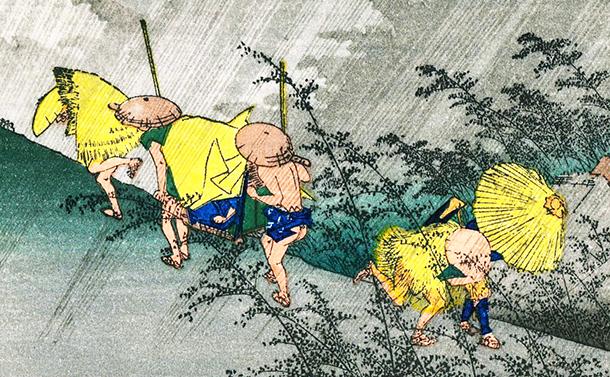 写真・図版 : 歌川広重「庄野の白雨」