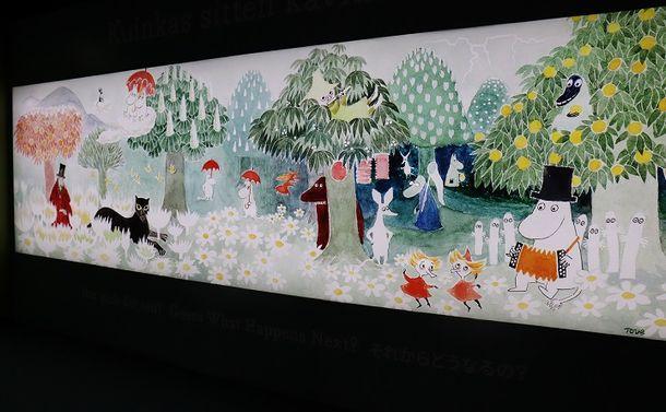 写真・図版 : ムーミンはフィンランドの作家トーベ・ヤンソンが母語のスウェーデン語で書いた物語。フィンランドとスウェーデンは海をはさんだ隣国で、同じ高福祉国家として高齢化時代の社会保障の模索を続けている=フィンランド・タンペレのムーミン美術館