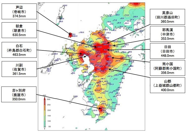 写真・図版 : 福岡や大分に大きな被害が出た2017年の九州北部豪雨(7月5日〜9日)