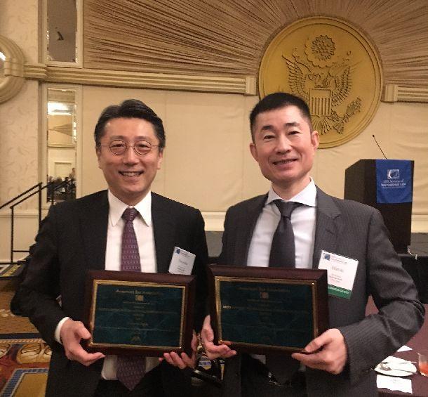 米国法曹協会から「国際的に活躍する卓越した企業弁護士」賞を受賞=2017年4月