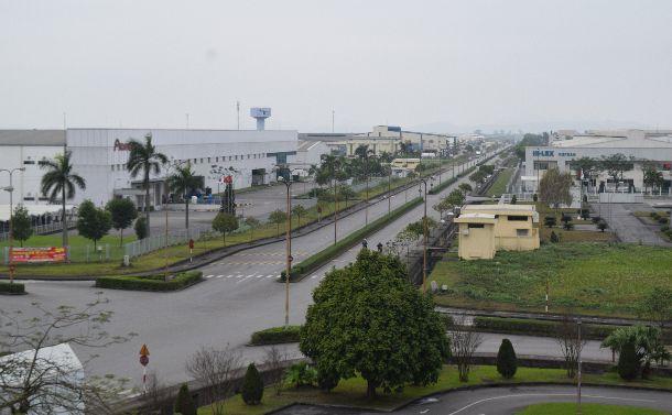 写真・図版 : 日系企業が集中するベトナムのハイフォン工業団地=2018年3月2日
