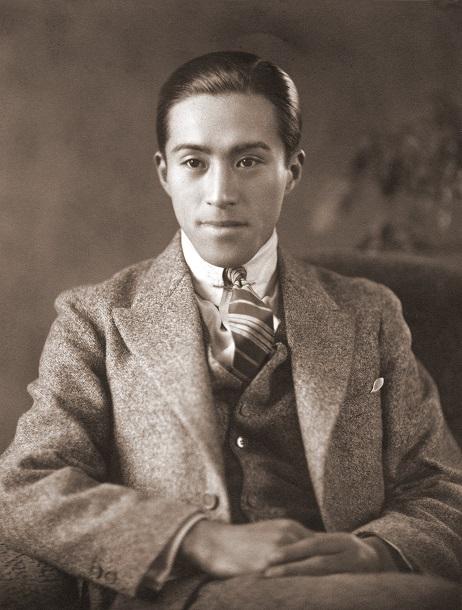 写真・図版 : 下村兼史。20歳前後の時と思われる(バード・フォト・アーカイブス所蔵)