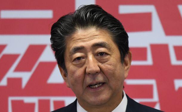 自民党総裁3選をはたし、記者会見する安倍晋三首相=2018年9月20日