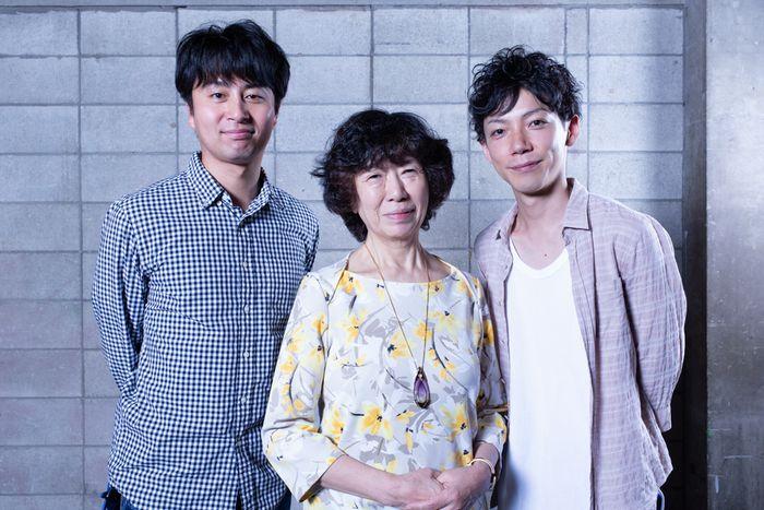 写真・図版 : 左から、緒方和也、倉田淳、田中俊裕=冨田実布撮影