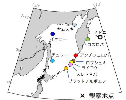 写真・図版 : 図3:アジア地域の出生繁殖場と観察地点の分布
